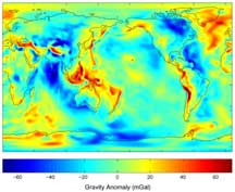 Gravity anomalies from 111 days of GRACE data